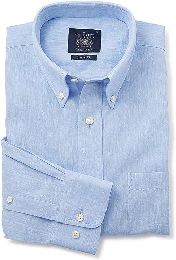 Savile Row - Camisa de manga larga para hombre, mezcla de ...