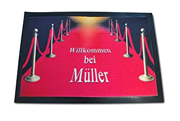 Roter teppich  Amazon.de: Die edle VIP Fussmatte - Red Carpet Roter Teppich mit ...