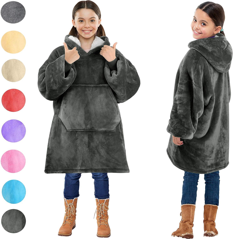 Cozy Hoodie Blanket Non-Skid Sherpa Slipper Socks Bunddle