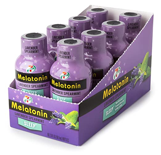 Amazon.com: 7-Select Relaxation Shots (Melatonin - Lavender/Spearmint), 2 oz, 8 Pack Box: Health & Personal Care