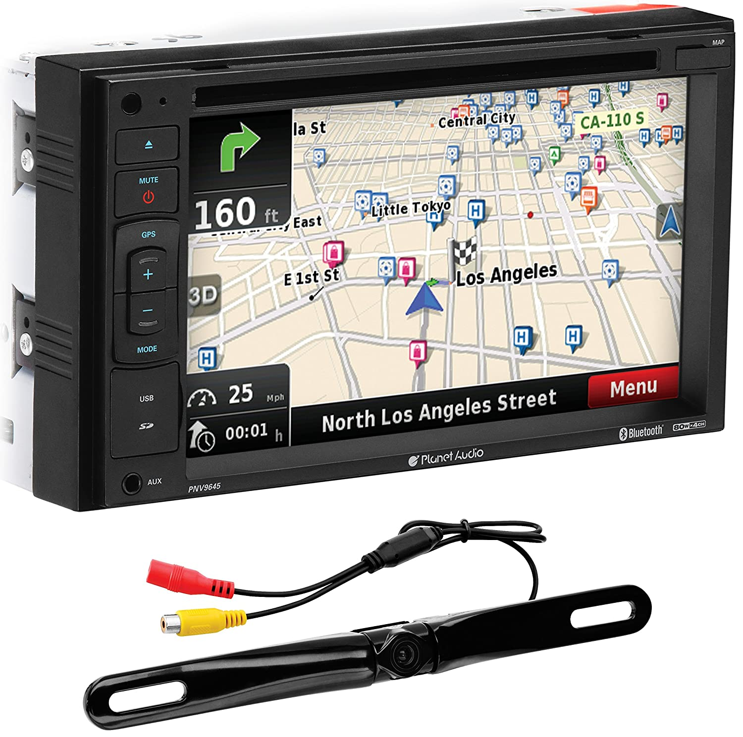 Boss Bv9755 Stereo Wiring Diagram Auto Electrical Planet Audio Amazon Com Pnv9645 Bluetooth Double Din Dvd Mp3 Usb Sd Rh Car Amp Pioneer
