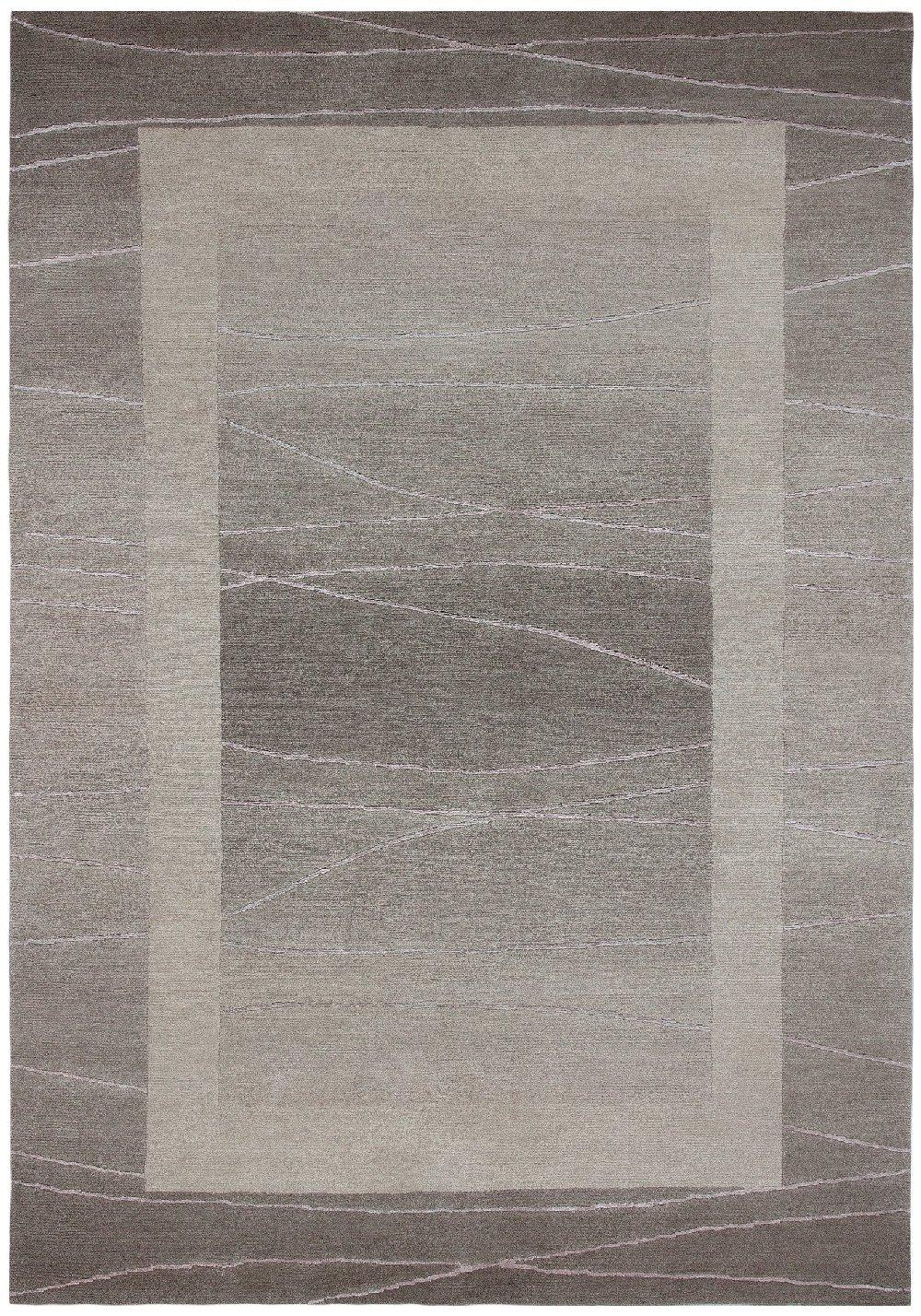 Sona-Lux Nepal Teppich handgeknüpft sand