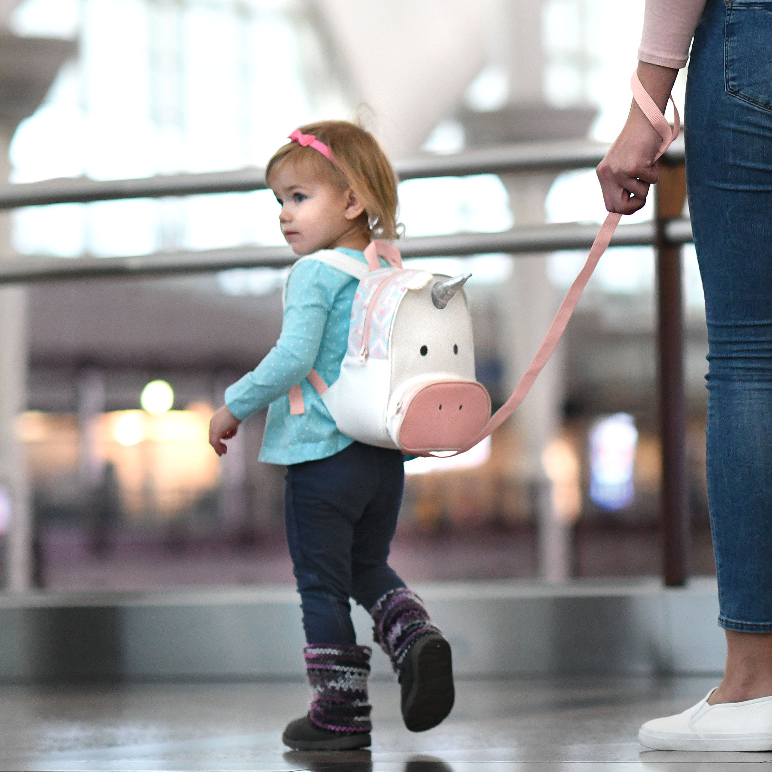 Travel Bug Toddler Safety Unicorn Backpack Harness with Removable Tether, Pink/White by Travel Bug (Image #3)