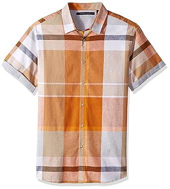 59399f63db3 Amazon.com  Sean John Men s Tall Largescale Plaid Prin Short Sleeve Woven   Clothing