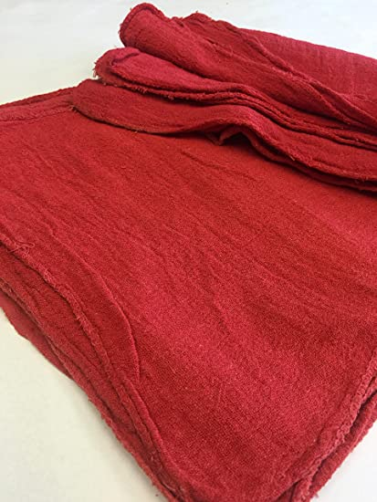 "2500 New B Grade Great Mechanics Shop Rags Towels Red 13/""X14/"""