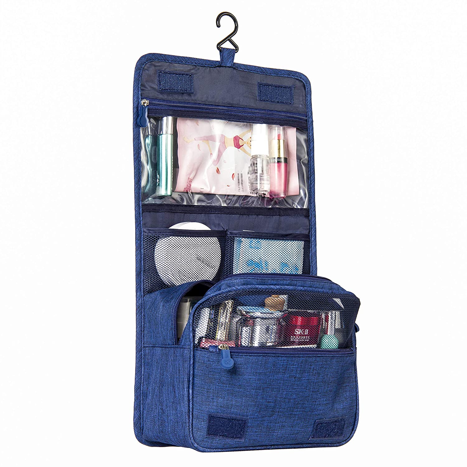 Travel Hanging Toiletry Bag Organizer-Compact Cosmetic Makeup Shaving Dopp Kit Bag for Women Men with Strong Hook Pocket-Hygiene Waterproof Travel Toiletries Bag-Toilet Bathroom Shower Accessories