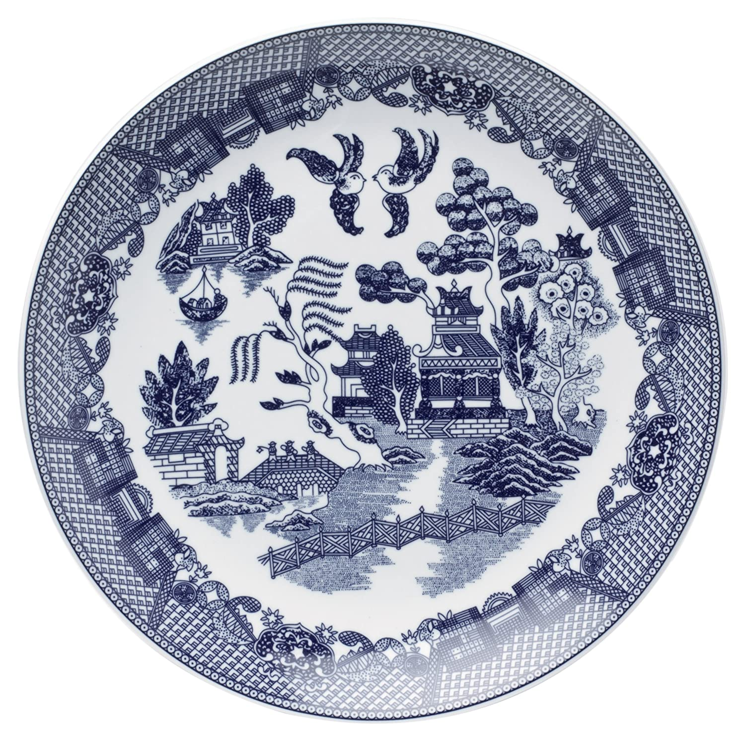 HIC Brands that Cook Blue Willow 12-1/4-Inch Buffet Plate YK-319