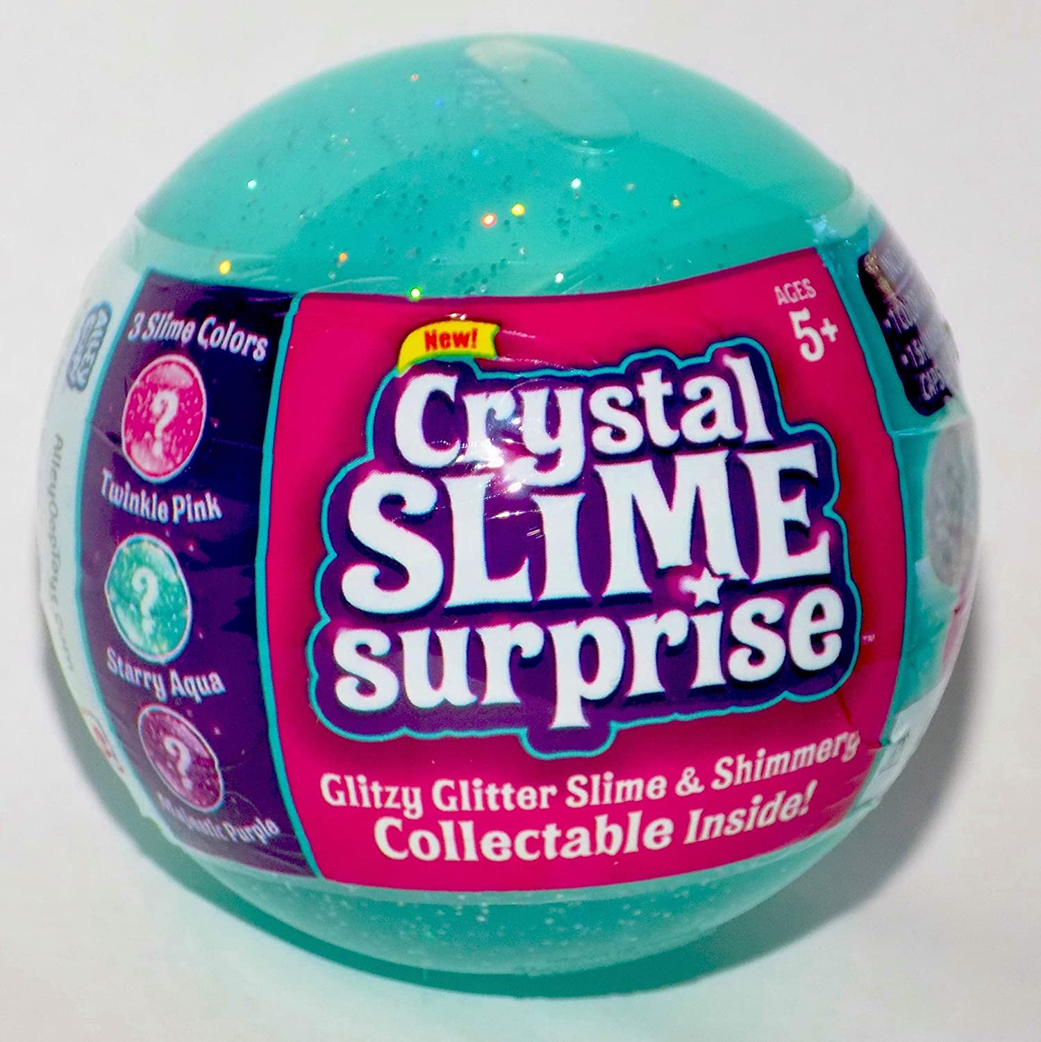 Starry Aqua Crystal Slime Surprise Glitter Slime /& Collectable Inside Alley Oop