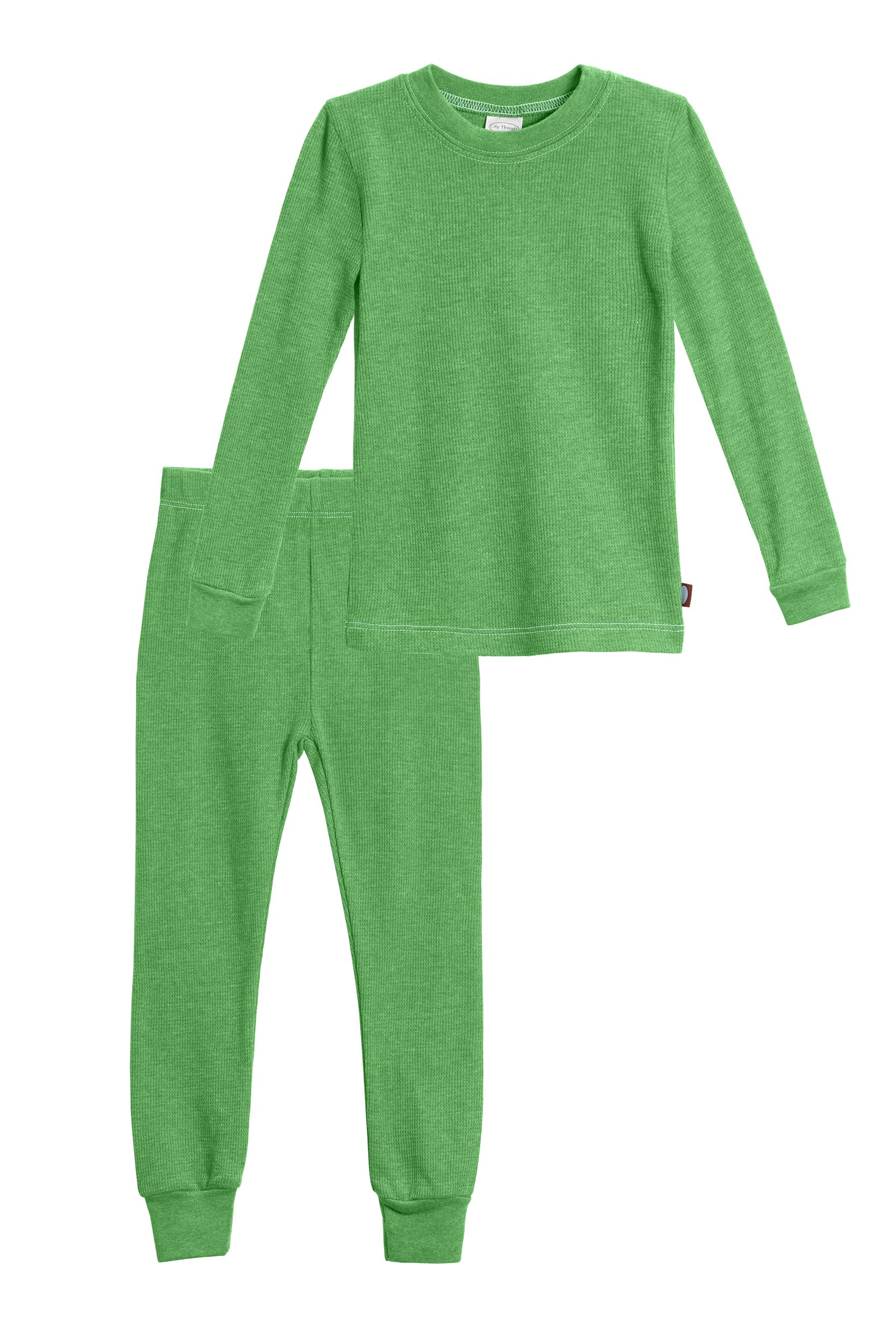 City Threads Little Boys Thermal Underwear Set Perfect For Sensitive Skin SPD Sensory Friendly, Elf Green- 6 by City Threads