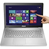 Asus N550JX-DS71T 15.6-Inch Full HD Touchscreen Laptop (Intel Core i7-4720HQ, 8GB DDR3L RAM, 1TB HDD, Windows 8.1), Silver