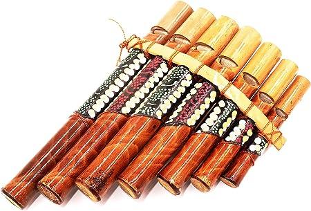 BALI PAPAYA Flauto di pan in bamb/ù Strumenti musicali legno artigianale panpipes Bamboo Flauta panflute