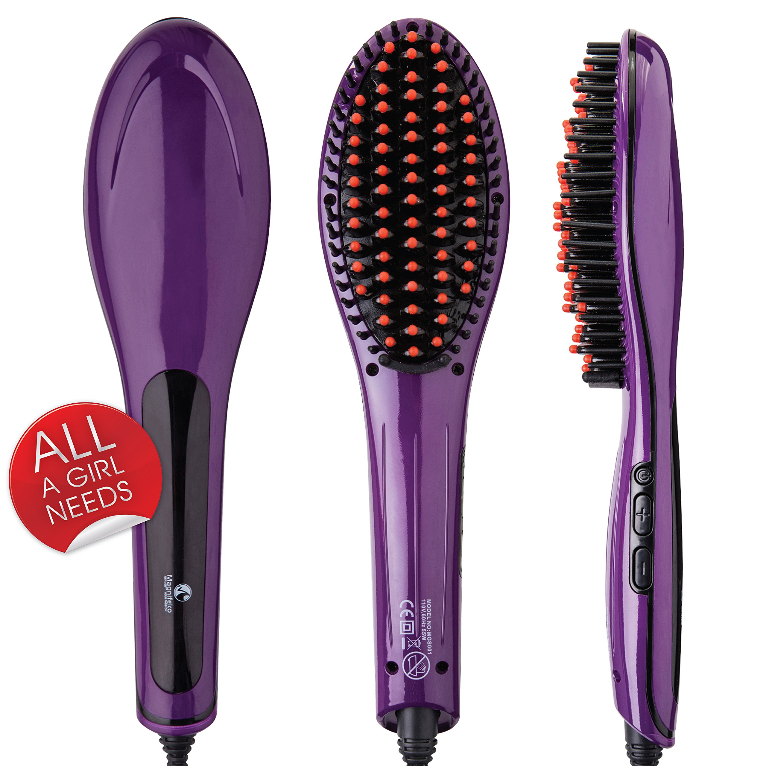 magnifeko hair straightener brush