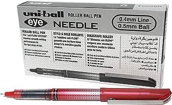 4 x Uni-ball Eye Micro UB Black Body USA SELLER 150 Gel Pen 0.5 Mm Black Ink