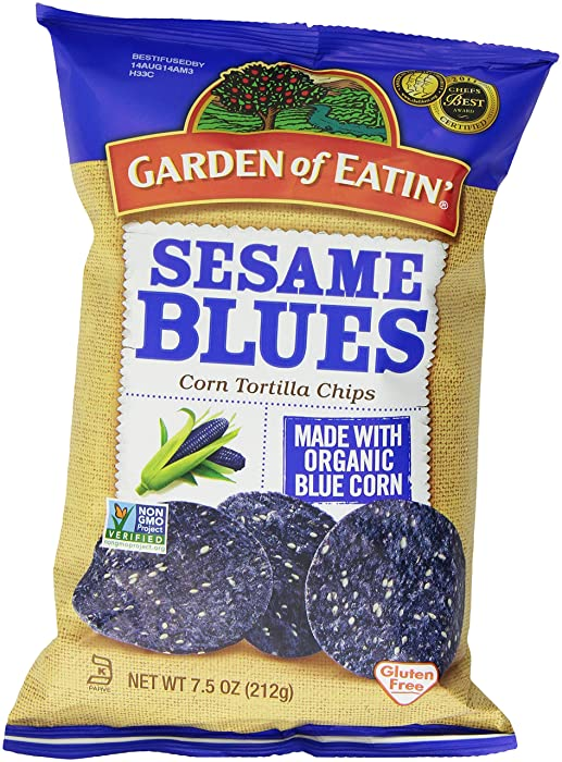 Garden of Eatin' Sesame Blues Corn Tortilla Chips, 7.5 Ounce, Packaging may Vary