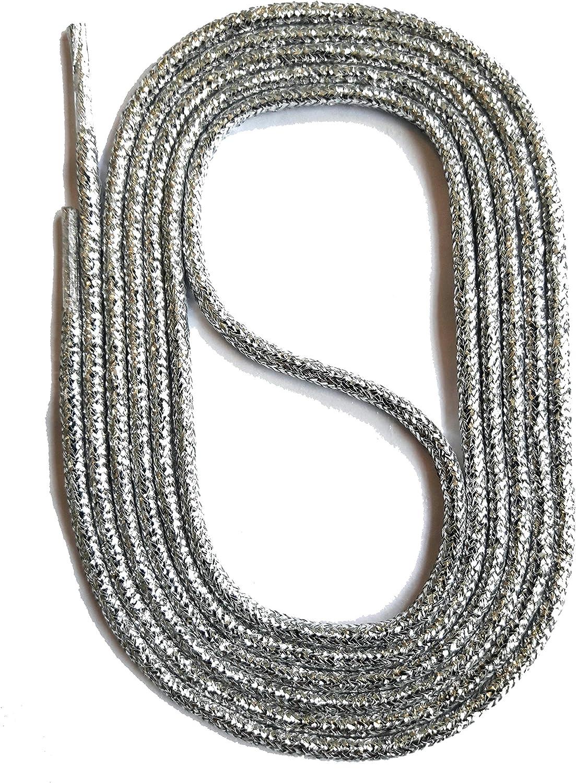 Canwn Lacets Ronds Cir/és, 3 Paires Lacets de Chaussures pour Chaussures Habill/ées Remplacement de Lacets pour Chaussures en Cuir Epaisseur 2,4 mm de Diam/ètre