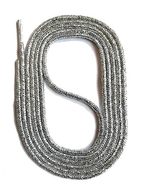 SNORS LACCI COLORATI rotondi ARGENTO 2-3 mm STRINGHE PER SCARPE STRINGHE  COLORATE  Amazon.it  Scarpe e borse 890e9963fc5