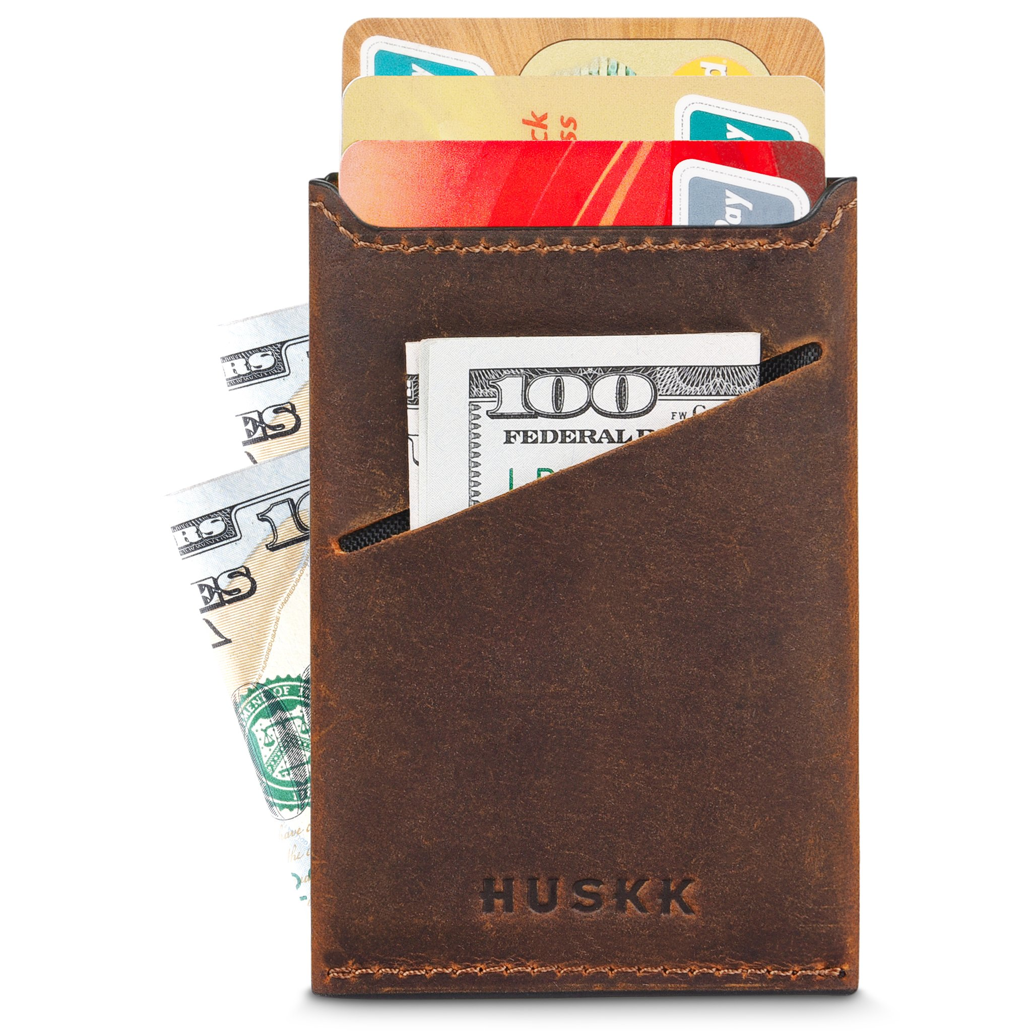 Wallets for Men - Mens Wallets - Slim Front Pocket Card Holder Sleeve - RFID Blocking (One Size, CSC5-DBCH)