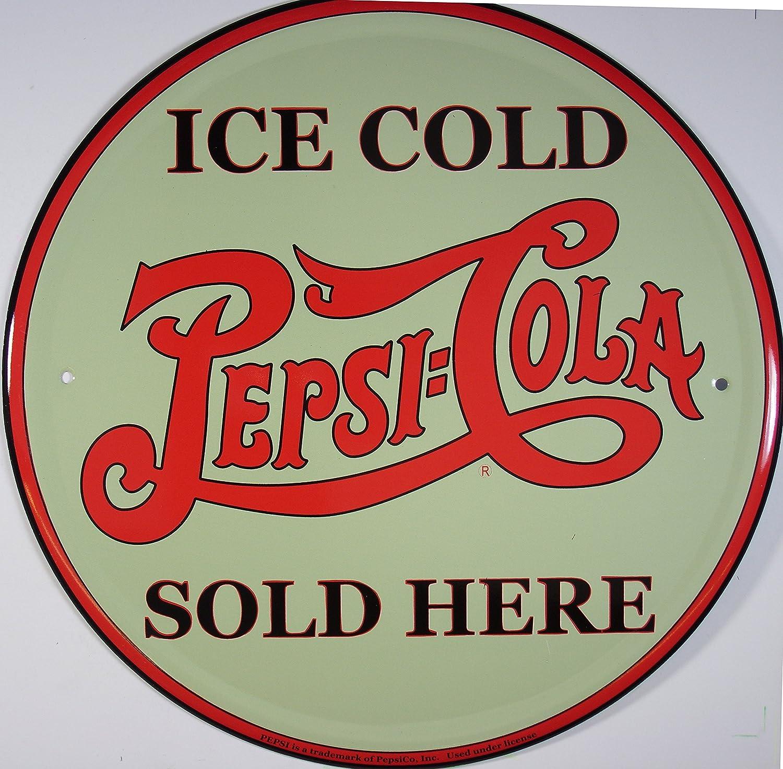 Pepsi Ice Cold rund Cartel de Chapa Placa metal plano Nuevo ...