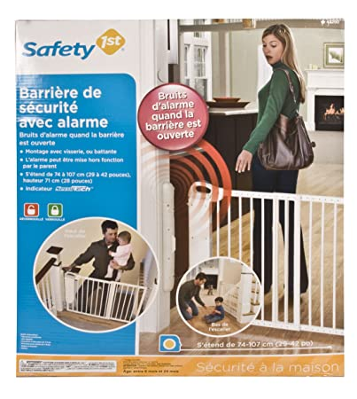 Amazon Com Safety 1st Security Alarm Gate White Indoor Safety