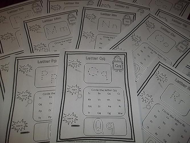 Amazon.com: 290 Bulk Printed Preschool and Kindergarten Alphabet ...