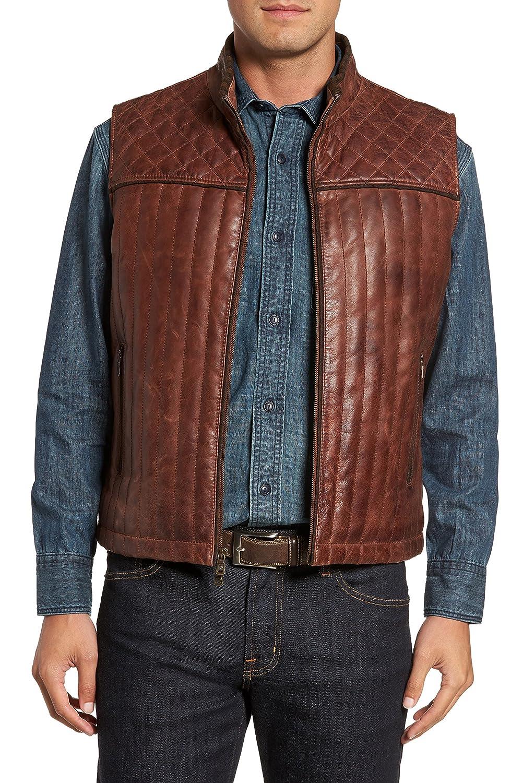 [フライント] メンズ ジャケットブルゾン FLYNT Quilted Leather Vest [並行輸入品] B077HG3GXP Large