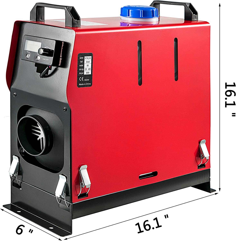 mit Schwarz LCD schalter /& 1 Luftauslass Frantools Standheizung Diesel 12V Standheizung 5KW f/ür Auto RV Boote LKW Wohnmobil Bus