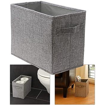 Hausfelder ORDNUNGSLIEBE Badezimmer Korb zur Toilettenpapier und Handtuch  Aufbewahrung - hoher Aufbewahrungskorb, Ersatzrollenhalter Aufbewahrungsbox  ...