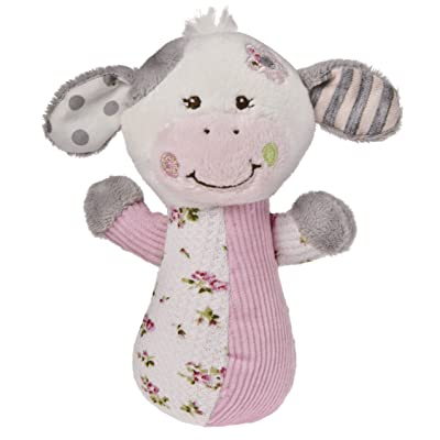Mary Meyer Baby Cheery Cheeks Rattle, Moo Moo Cow (Discontinued by Manufacturer) : Stuffed Cow : Baby