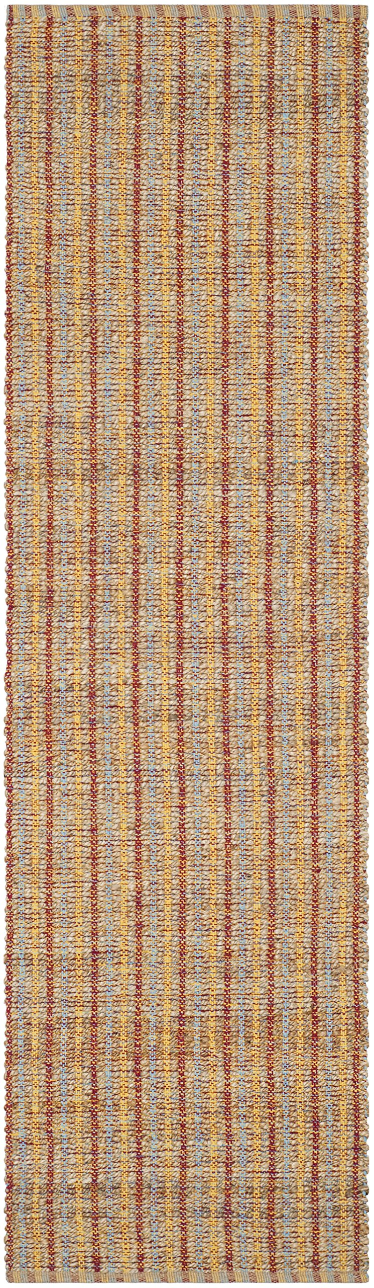 Safavieh Cape Cod Collection CAP102A Handmade Beige and Rust Jute Runner (2'3 x 8') by Safavieh