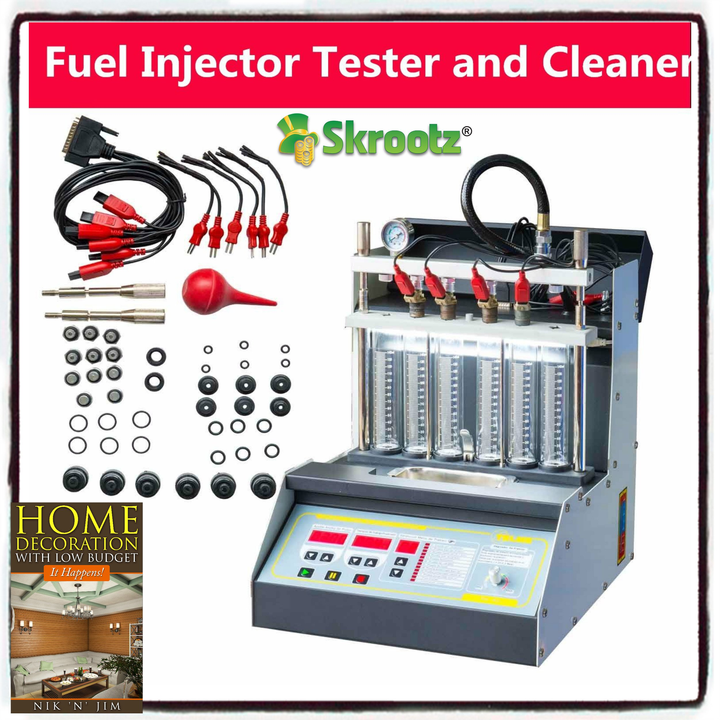 Car Motorcycle Injector Ultrasonic Cleaner Injection Tester by Skroutz