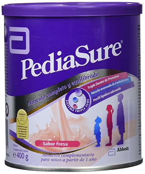 PediaSure Polvo lata 400g sabor fresa. Alimento completo y equilibrado para niños a partir de