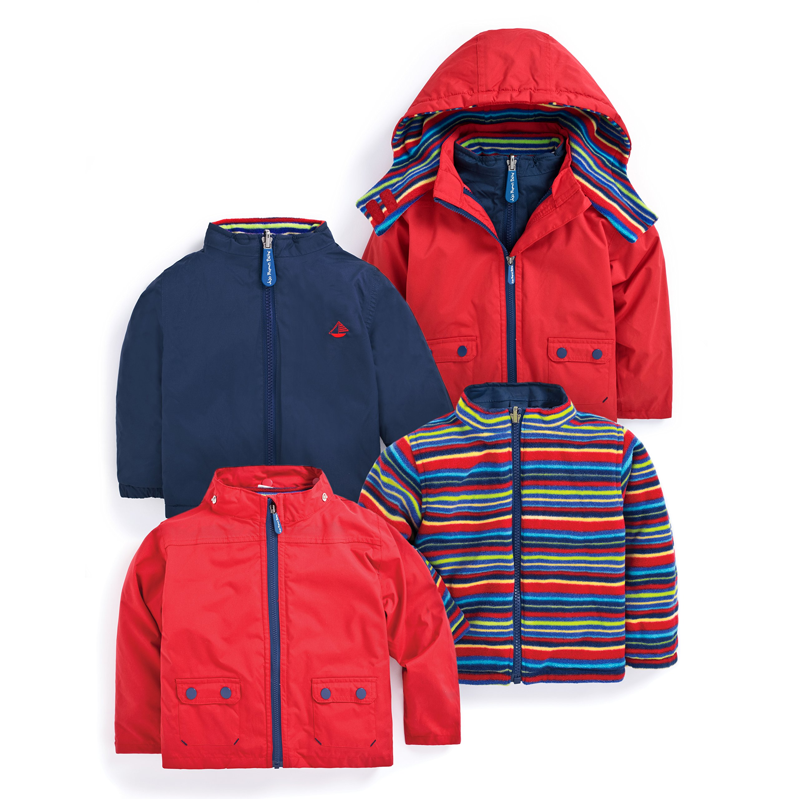 4-In-1 Waterproof Polarfleece Jacket by JOJO MAMAN BÉBÉ