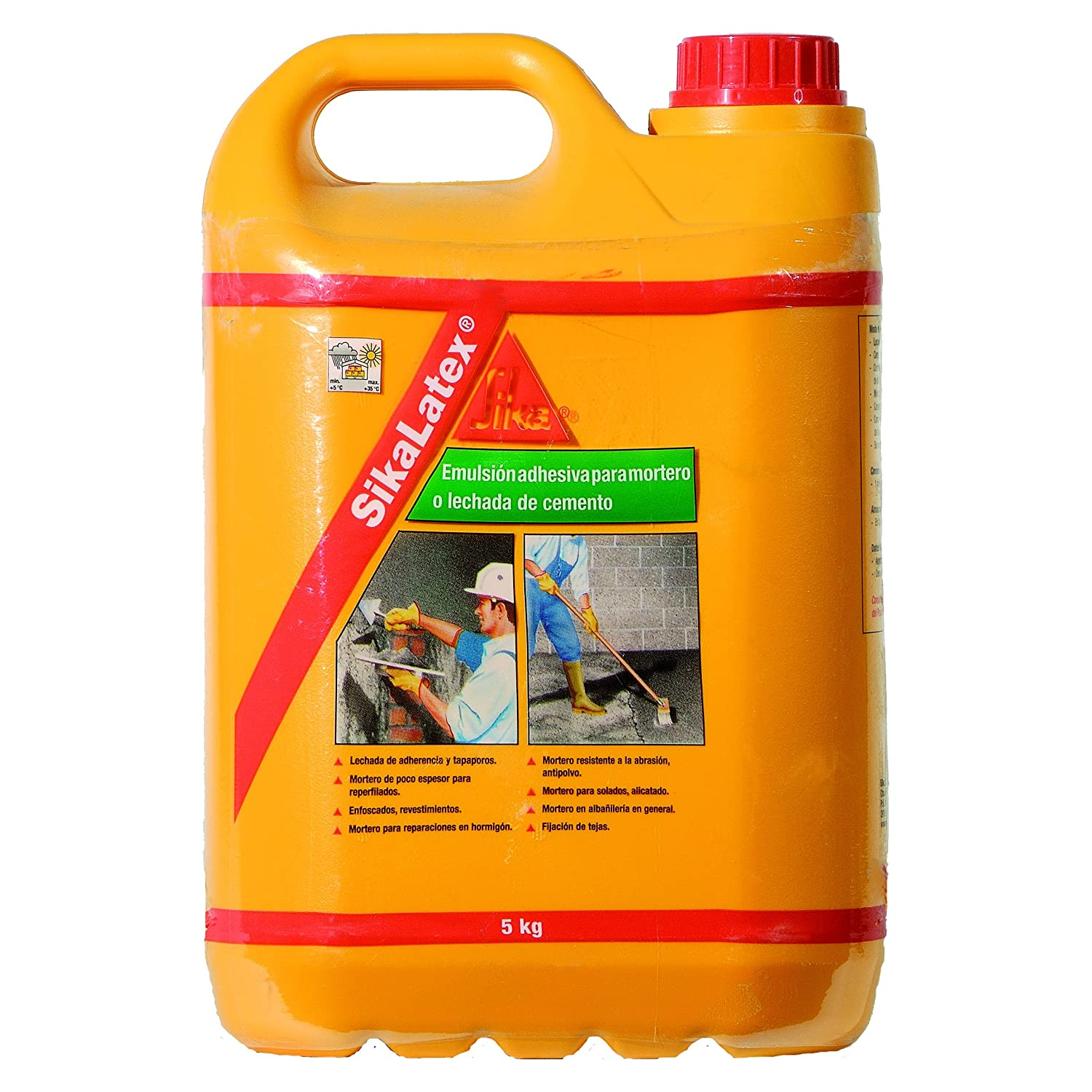 Sika Sika Latex - Emulsion Adhesive/A Latex White Carafe 5 kg:  Amazon.co.uk: DIY & Tools