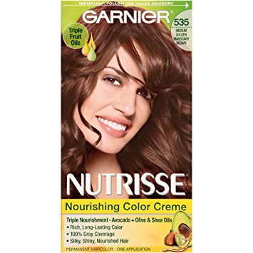 Amazon.com: Garnier Nutrisse Nourishing Hair Color Creme, 535 ...