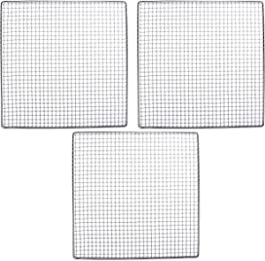 3 Excalibur Dehydrator Stainless Steel Trays Replacement UPGRADE Food Shelf Mesh