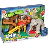 Fisher-Price CHF55 - Little People Big Animal Zoo Playset - Elephant has Sounds and Music - Learning Toy