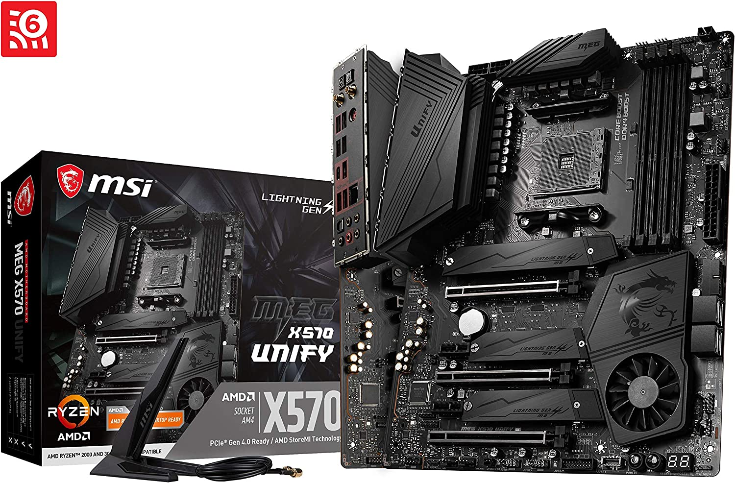 MSI MEG AMD X570 Unify AM4 ATX DDR4-SDRAM Motherboard