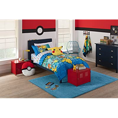 "Pokemon ""First Starters"" Twin Bed in a Bag Bedding Set: Home & Kitchen"