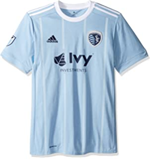 separation shoes 023d0 db8a5 adidas Mens MLS Sporting Kc 2017 Home Replica Jersey