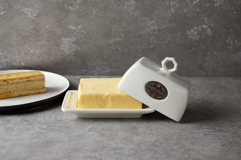 LA JOLIE MUSE Burriera Contenitore Vassoio da Portata Vintage collezione Hampshire Butter Dish decorazione casa idea regalo nozze