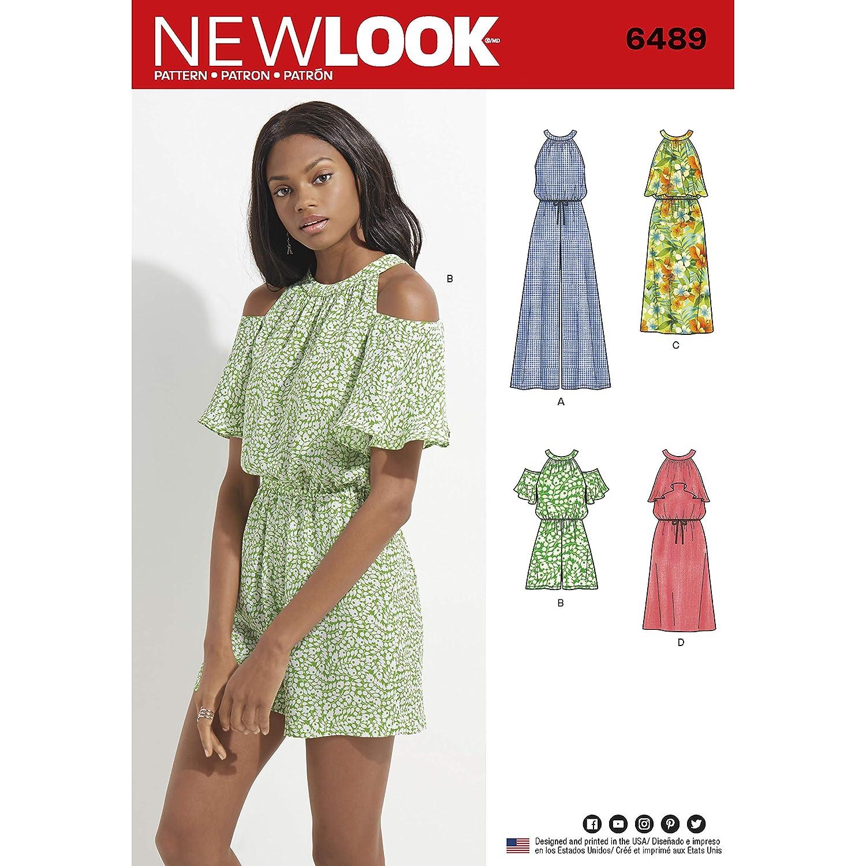 New Look Muster 6489 Misses \'Overall/Strampler und Kleid ...