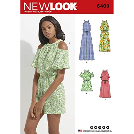 New Look Pattern 6489 Misses\' Jumpsuit/Romper and Dress Sewing ...