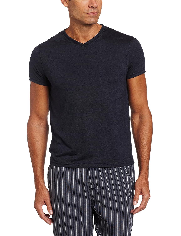 INTIMO Mens Soft Knit V-Neck Top Pajama