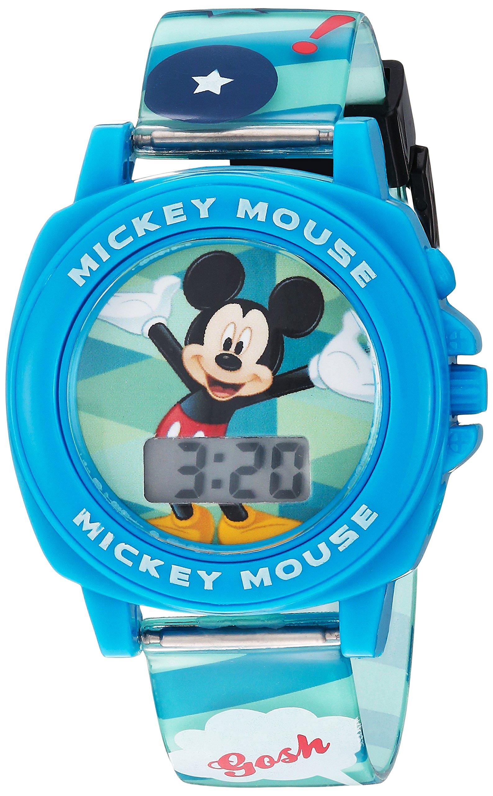 Disney Boy's Digital Plastic Casual Watch, Color:Blue (Model: MK1328) by Disney
