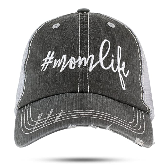 GA Girl Mom Life  Momlife hat Trucker Style Baseball Cap Black for ... 579a762b34f