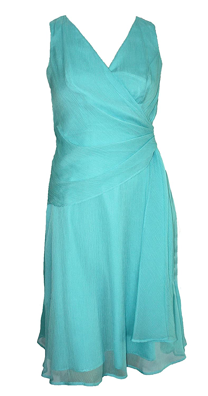 Teatro Wrap Bodice / Cross Over Chiffon Dress. 3 Colours. Sizes 6-14