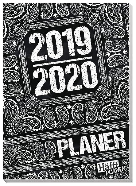 Häfft Planer 20192020 Black White Cuaderno De Deberes