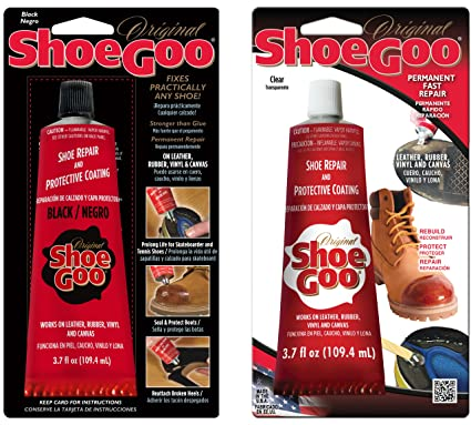 1ae642b4af Amazon.com  Shoe Goo Shoe Repair 3.7 oz. 2-Pack (1 Clear