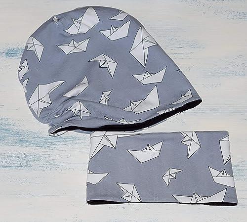 Conjunto de gorro y braga de cuello con barcos para niño o niña ...