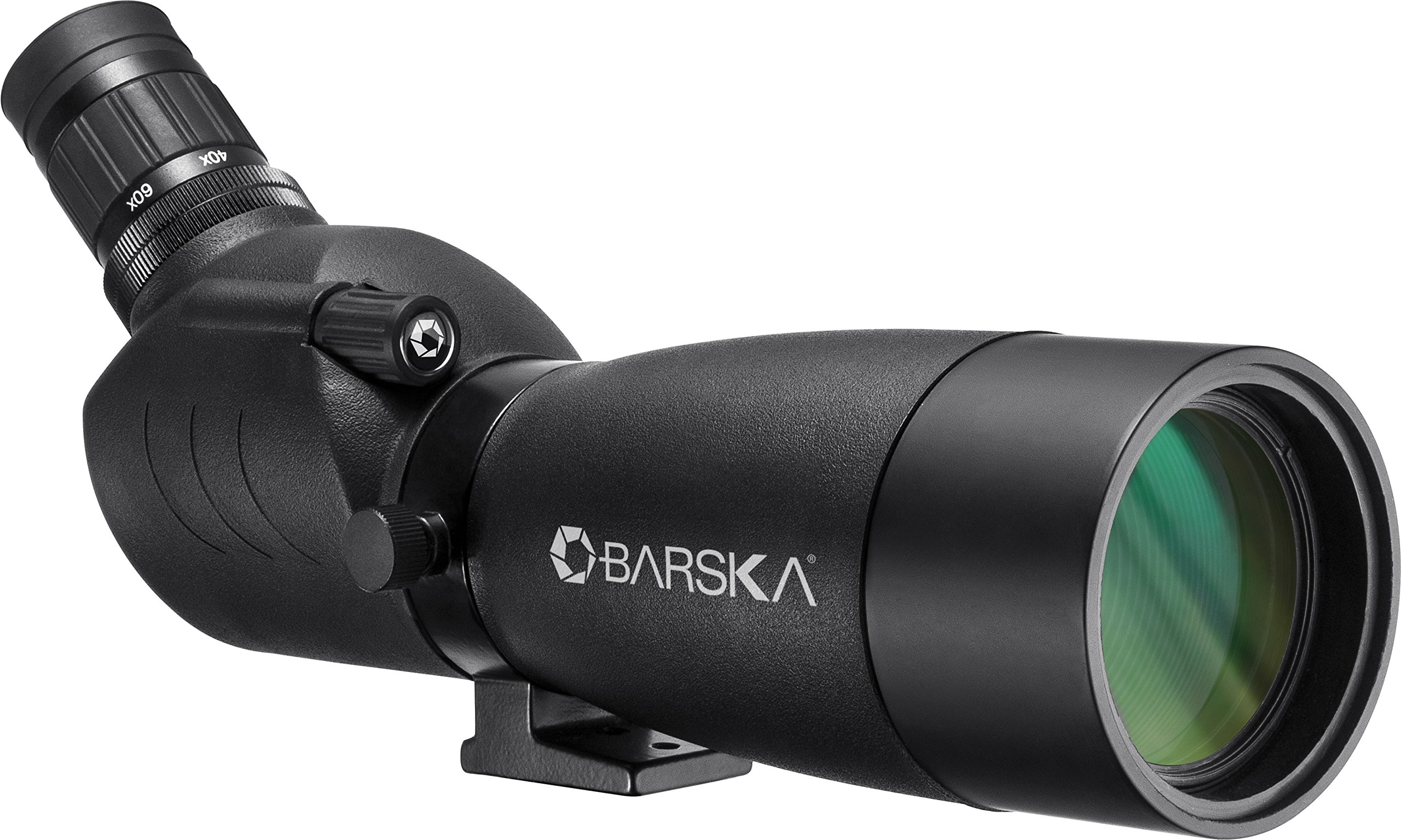 BARSKA 20-60X60 Blackhawk Angled Spotting Scope, 40mm, Black